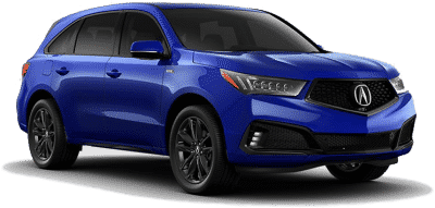 Blue suv from car financing